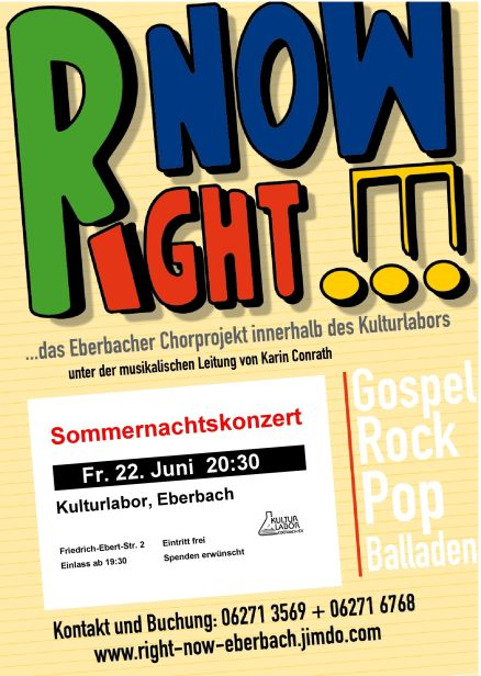 Right Now im Kulturlabor Eberbach